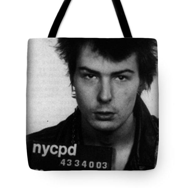 Sid Vicious Mug Shot Vertical Tote Bag
