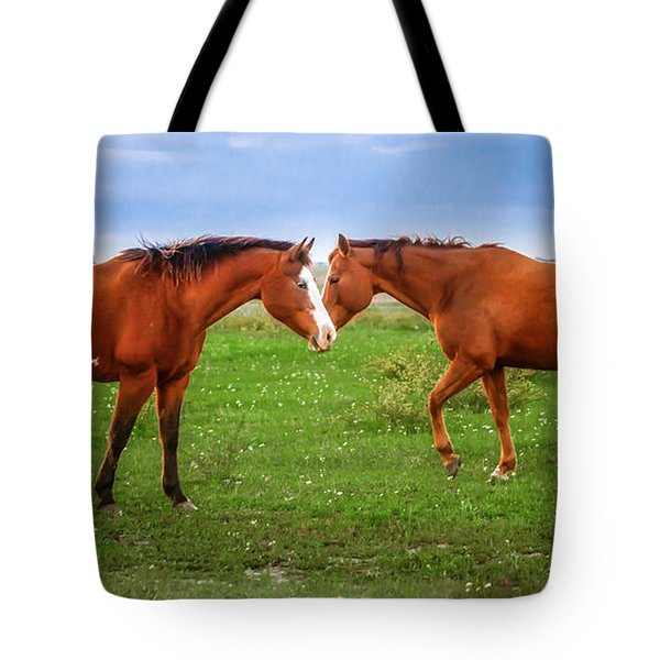 Tote Bag featuring the photograph Side By Side by Melinda Ledsome
