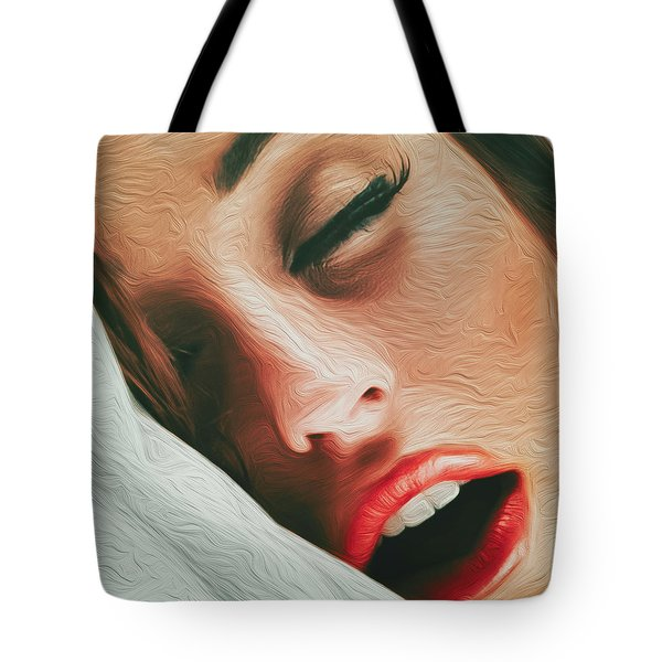 Tote Bag featuring the photograph Side Kiss- by JD Mims