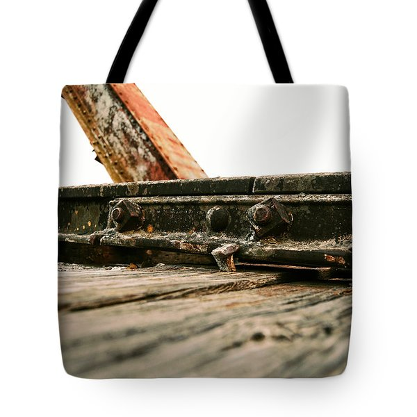 Side Of Rail #photography #trains Tote Bag