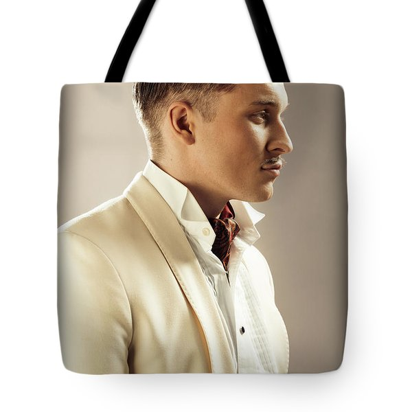 Side Profile Of Character Playing Errol Flynn Tote Bag