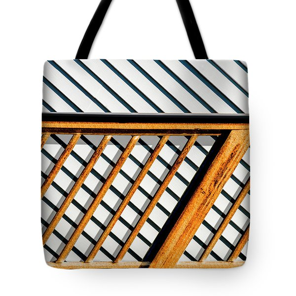 Tote Bag featuring the photograph Side Step by Paul Wear