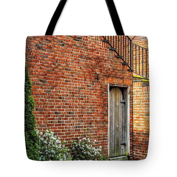 Tote Bag featuring the photograph Side Streed Scene by Jim Dollar