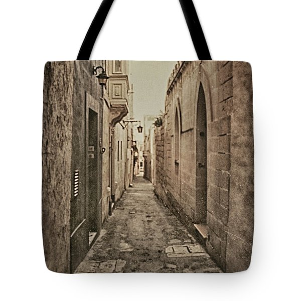 Tote Bag featuring the photograph Side Street Malta by Charles McKelroy