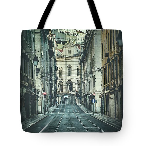 Side Tracked Tote Bag