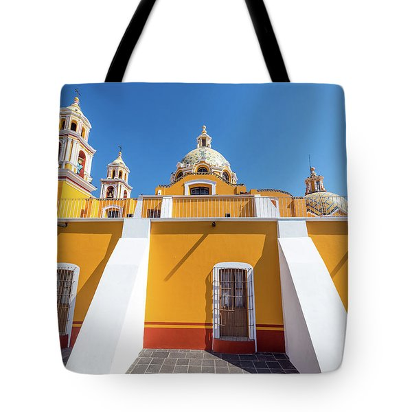 Side View Of Our Lady Of Remedies Church Tote Bag