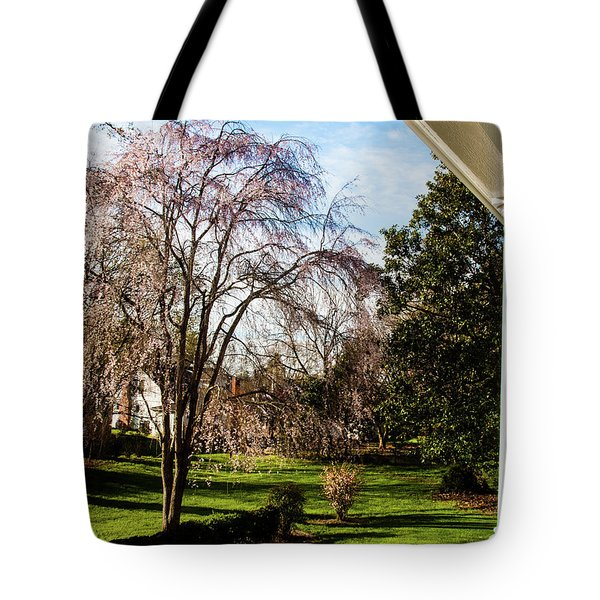 Tote Bag featuring the photograph Side Yard by Randy Sylvia