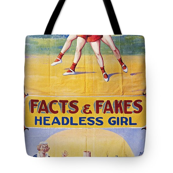 Sideshow Poster, C1975 Tote Bag