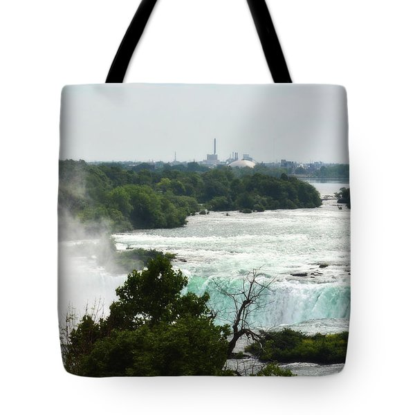 Sideview Mist Tote Bag
