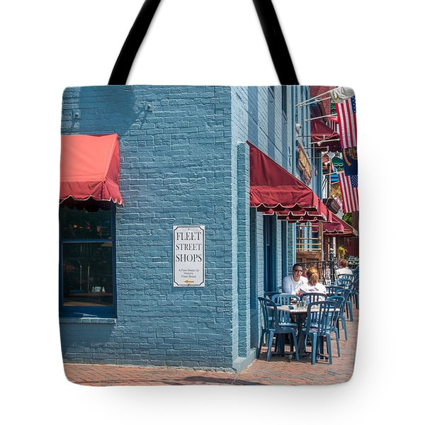 Sidewalk Cafe Annapolis Tote Bag