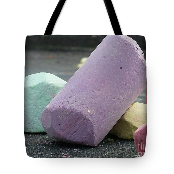 Sidewalk Chalk Collection Photo 3 Tote Bag