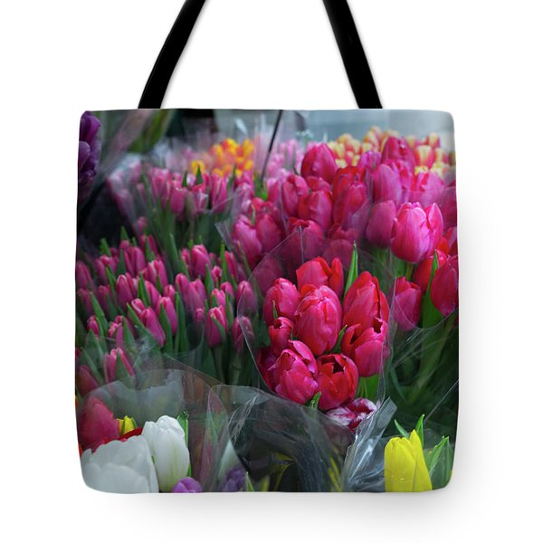 Tote Bag featuring the photograph Sidewalk Flowers by Lora Lee Chapman