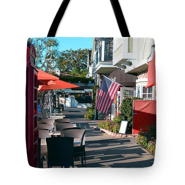 Sidewalk Patio Tote Bag
