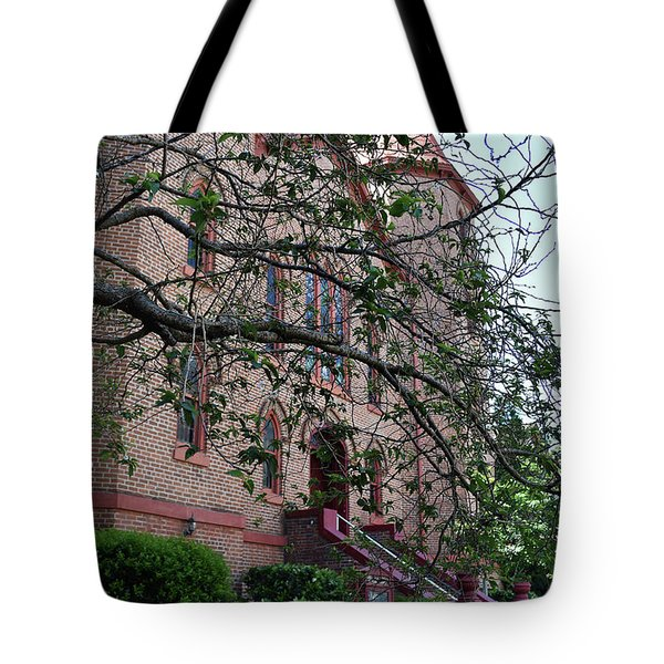 Tote Bag featuring the photograph Sidney Park Cme Church by Skip Willits