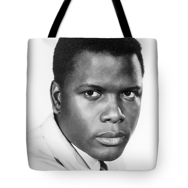 Sidney Poitier (1924-) Tote Bag by Granger
