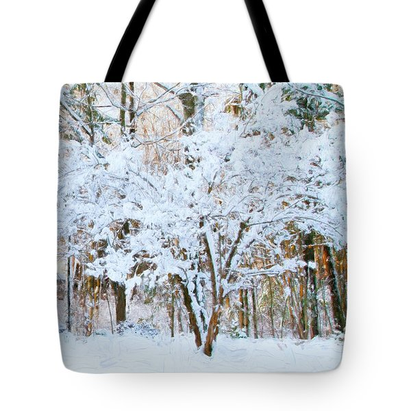 Siebold Viburnum In Snow Tote Bag