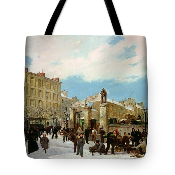 Siege Of Paris Tote Bag by Jacques Guiaud