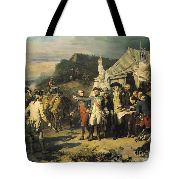 Siege Of Yorktown Tote Bag by Louis Charles Auguste  Couder