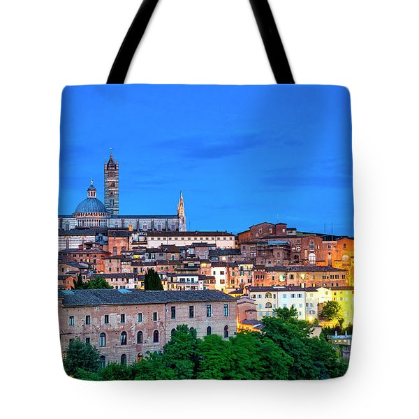 Tote Bag featuring the photograph Siena by Fabrizio Troiani
