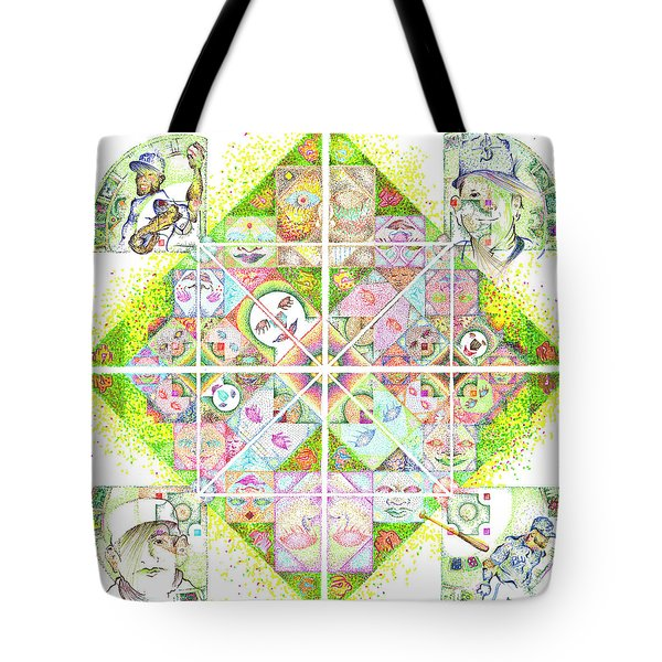 Sierpinski's Baseball Diamond Tote Bag