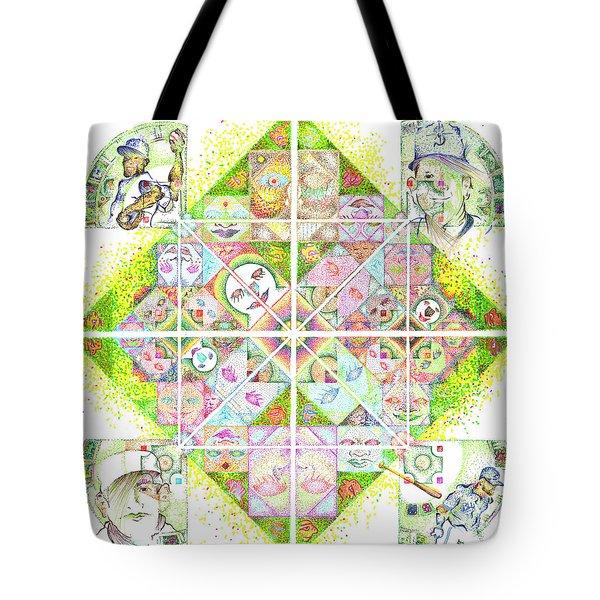 Sierpinski's Baseball Diamond Tote Bag