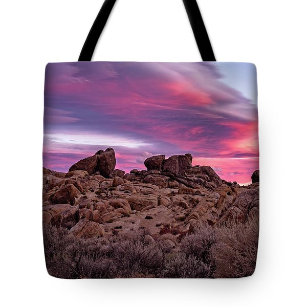 Sierra Clouds At Sunset Tote Bag