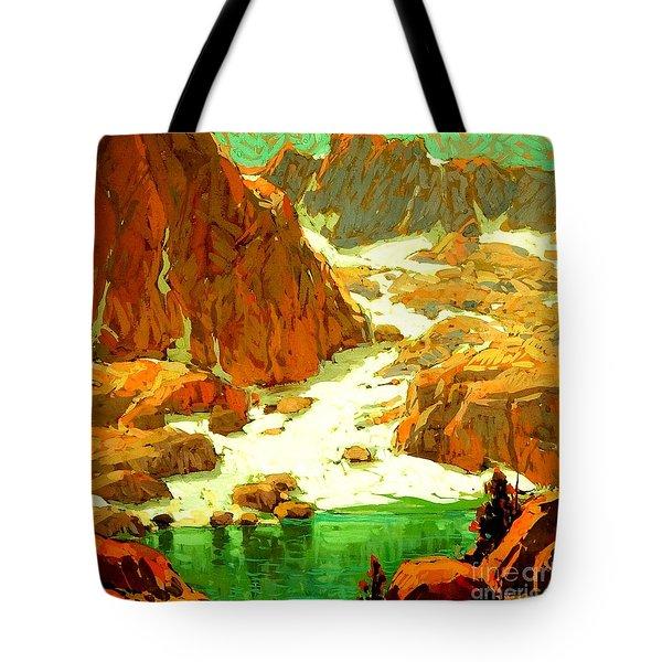 Sierra Landscape Circa 1920 Tote Bag