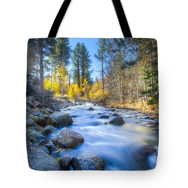 Sierra Mountain Stream Tote Bag