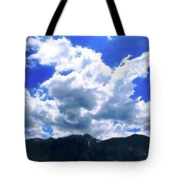 Sierra Nevada Cloudscape Tote Bag by Matt Harang