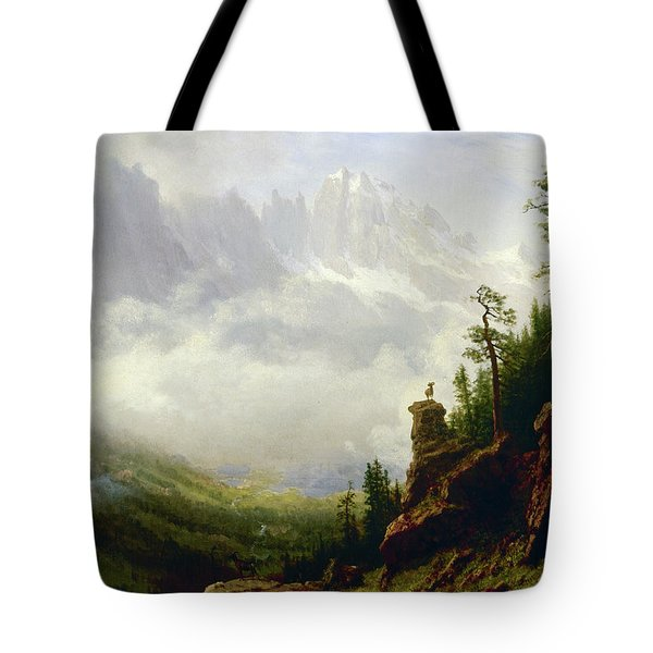 Sierra Nevada Mountains In California Tote Bag