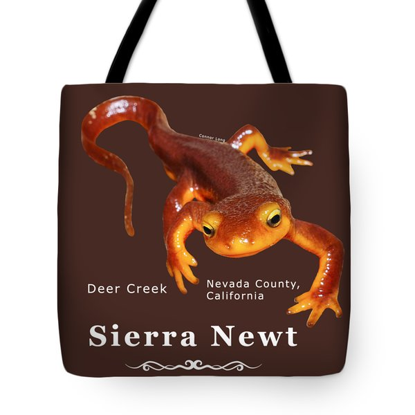 Sierra Newt - Color Newt - White Text Tote Bag