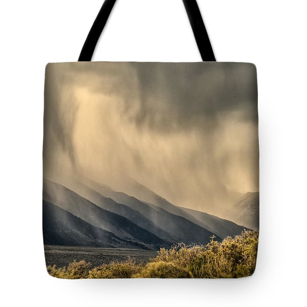 Sierra Storm From Panum Crater Tote Bag