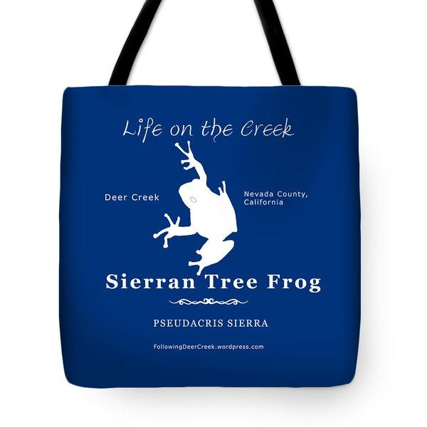 Sierran Tree Frog - White Graphic, White Text Tote Bag