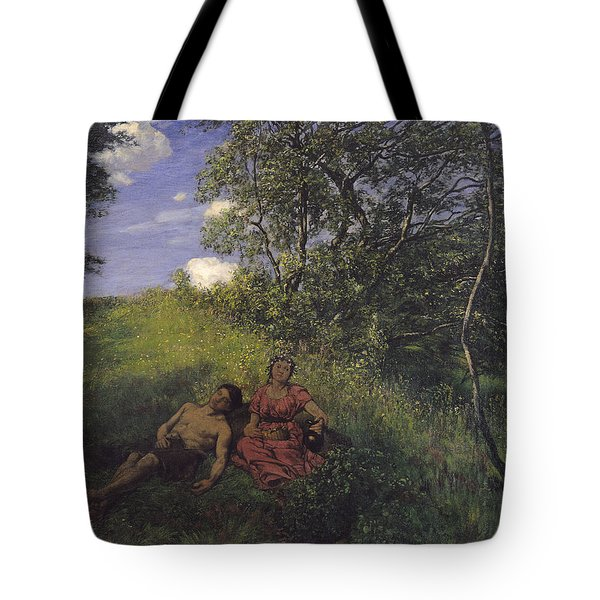 Siesta Tote Bag by Hans Thoma