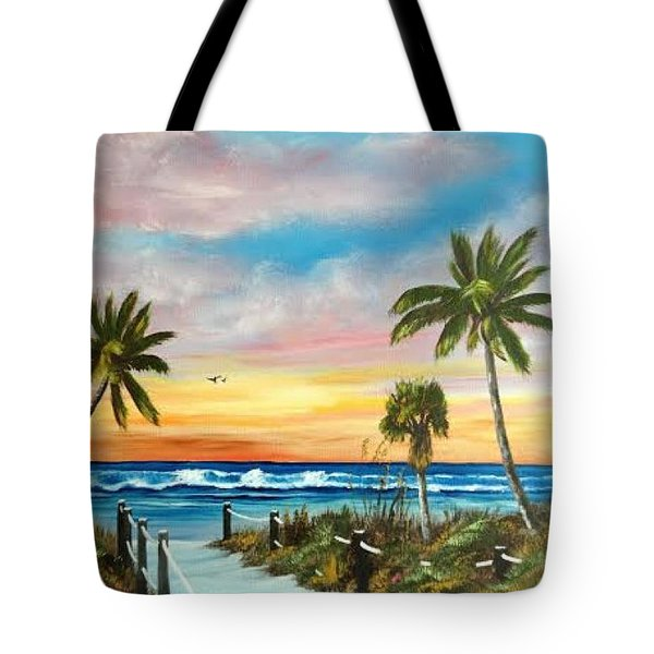 Siesta Key At Sunset Tote Bag
