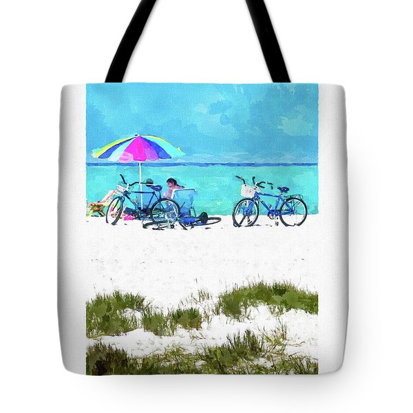 Siesta Key Beach Bikes Tote Bag