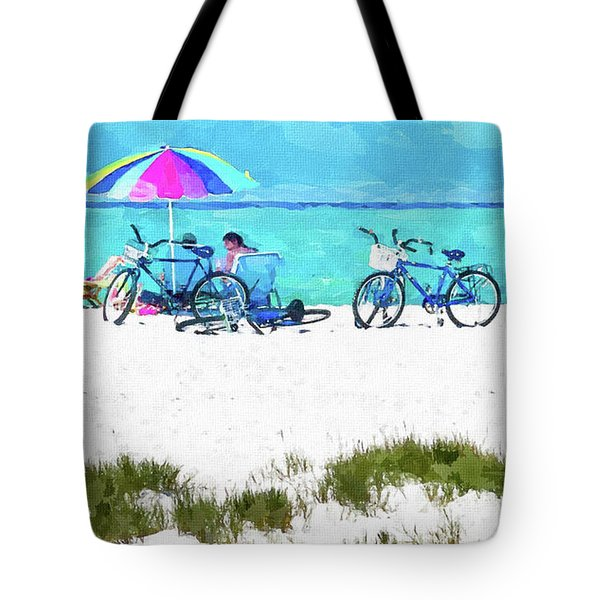 Siesta Key Beach Bikes Tote Bag