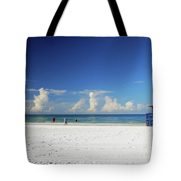 Tote Bag featuring the photograph Siesta Key Life Guard Shack by Gary Wonning