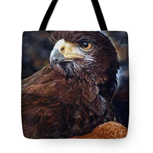 Sig The Harris Hawk Tote Bag by Linda Becker