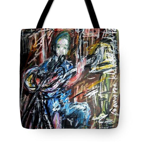 Singer Boy Tote Bag