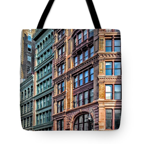 Tote Bag featuring the photograph Sights In New York City - Colorful Buildings by Walt Foegelle