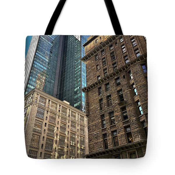 Tote Bag featuring the photograph Sights In New York City - Old And New 2 by Walt Foegelle