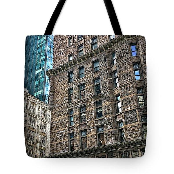 Tote Bag featuring the photograph Sights In New York City - Old And New by Walt Foegelle