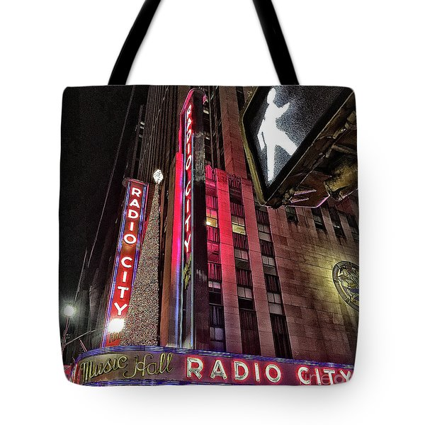 Tote Bag featuring the photograph Sights In New York City - Radio City by Walt Foegelle