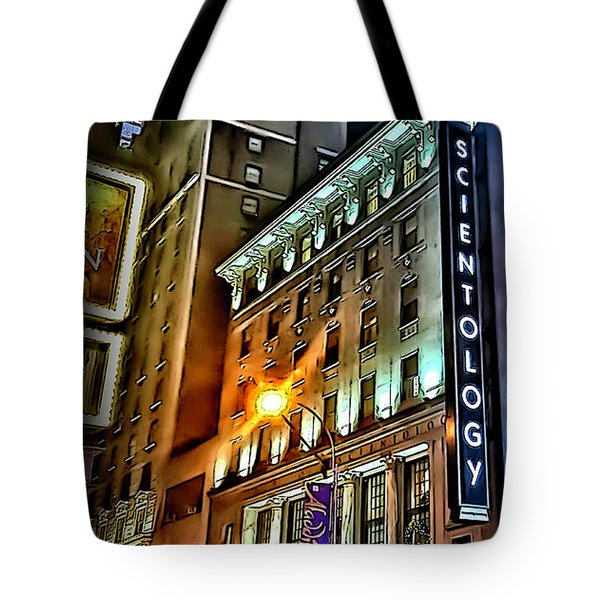 Tote Bag featuring the photograph Sights In New York City - Scientology by Walt Foegelle