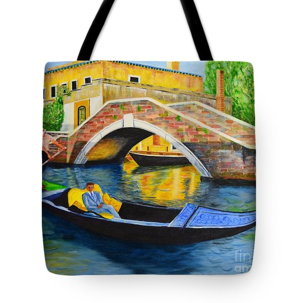 Tote Bag featuring the painting Sightseeing by Melvin Turner