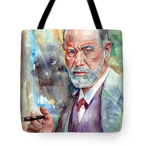Sigmund Freud Portrait Tote Bag