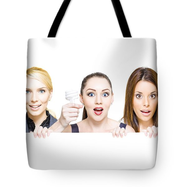 Sign Of Business Innovation And Business Success Tote Bag