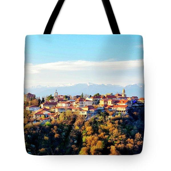 Tote Bag featuring the photograph Signagi by Fabrizio Troiani