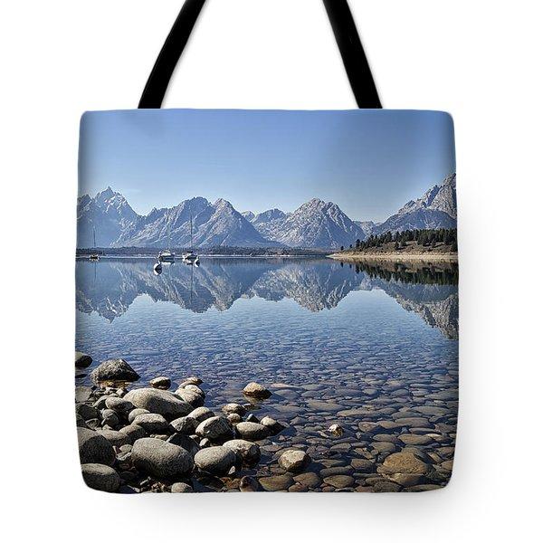 Jackson Lake  Near Signal Mountain Lodge Tote Bag